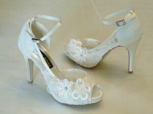f285cfe4ea Szandál fazonú női esküvői cipő