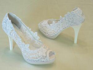 Nyitott orrú női esküvői cipő - Sarokmagasság 6 - 11 cm b586fe4e51