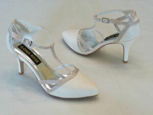 0ea39b25ed Felvezetőpántos női esküvői cipő