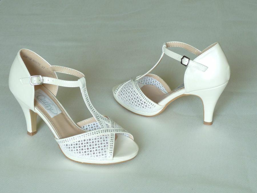 7b74de6d35 Szandál fazonú felvezetőpántos női esküvői cipő - Cathy