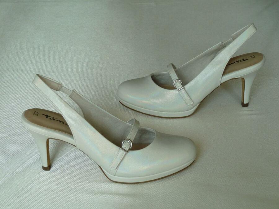 Szling fazonú platformos női esküvői cipő