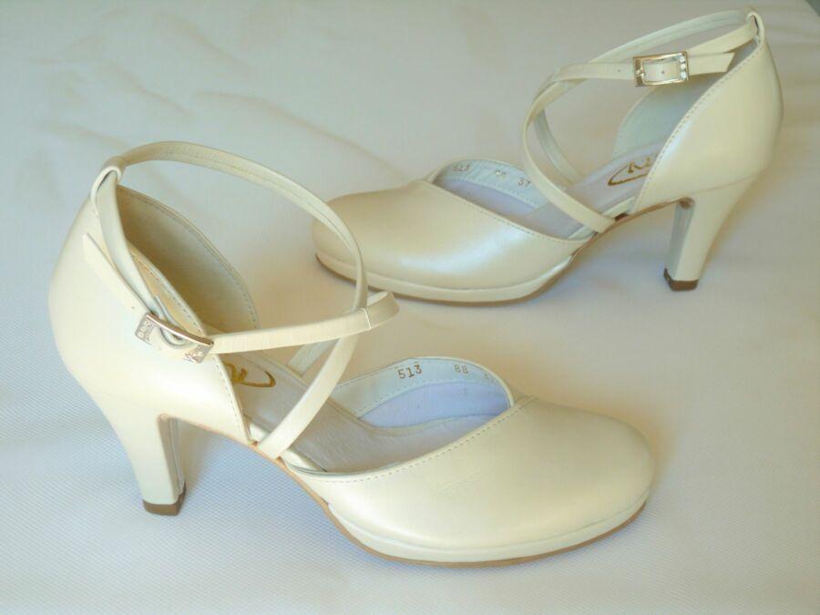 Platformos kétrészes női esküvői cipő