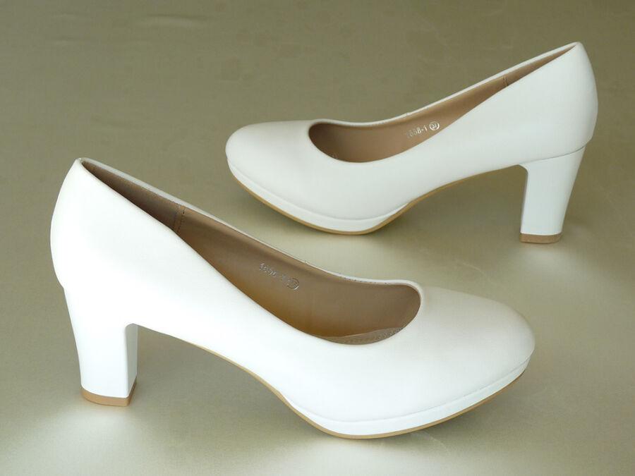 Platformos női esküvői cipő