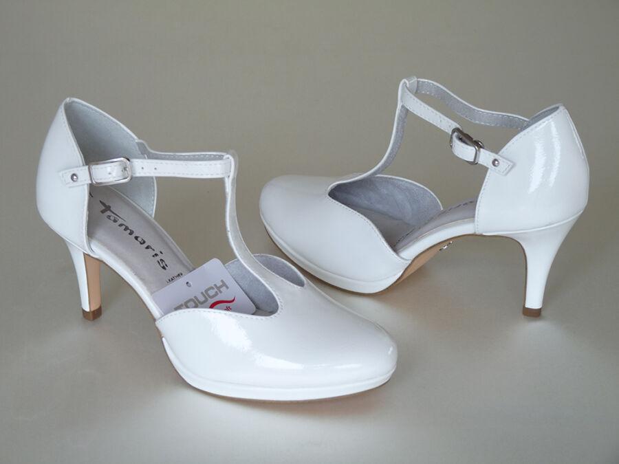 Felvezetőpántos, platformos női esküvői cipő