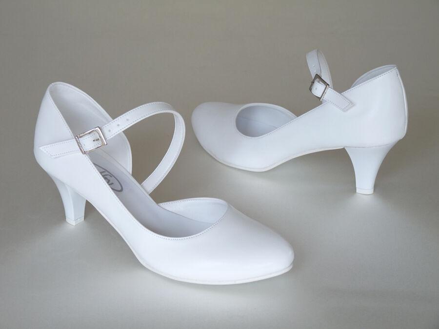 Aszimmetrikus pántos női esküvői cipő