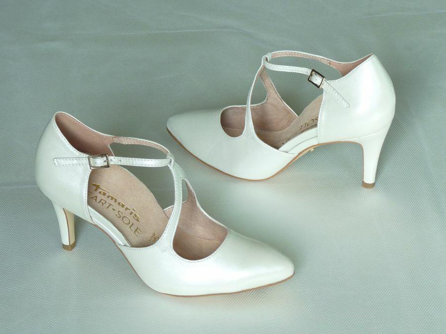 Kétrészes női esküvői cipő
