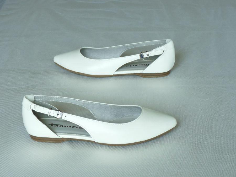 Lapos kétrészes női esküvői cipő