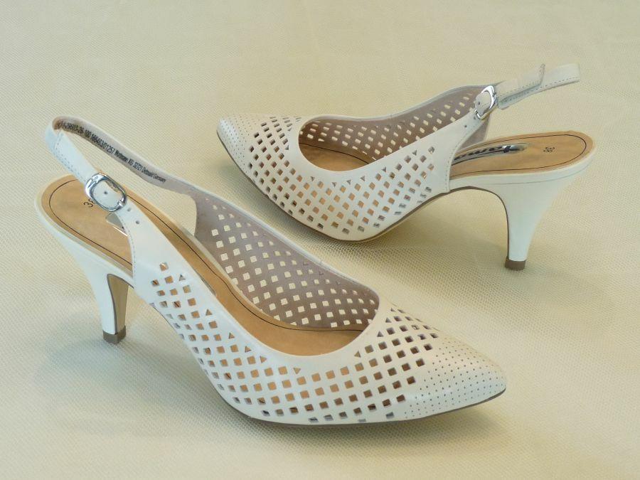 Sling fazonú női esküvői cipő