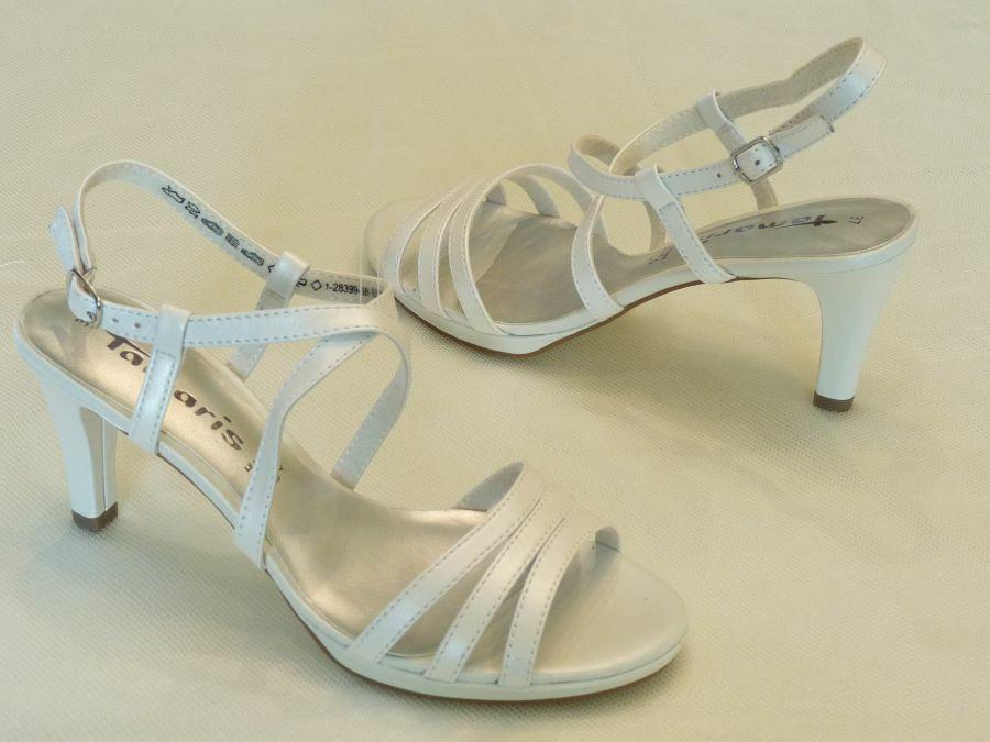 Szandál fazonú keresztpántos női esküvői cipő