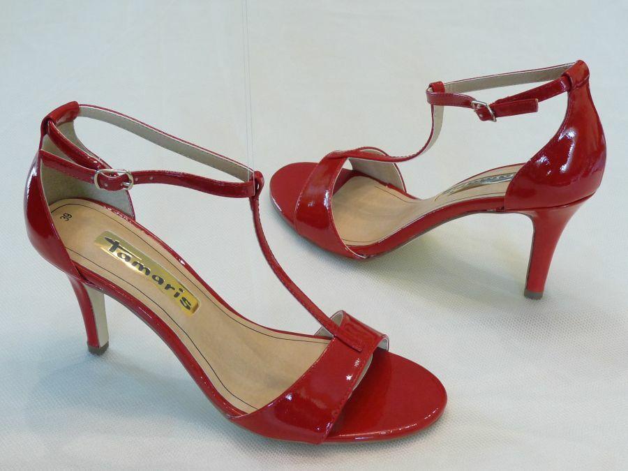 Szandál fazonú felvezetőpántos menyecske cipő