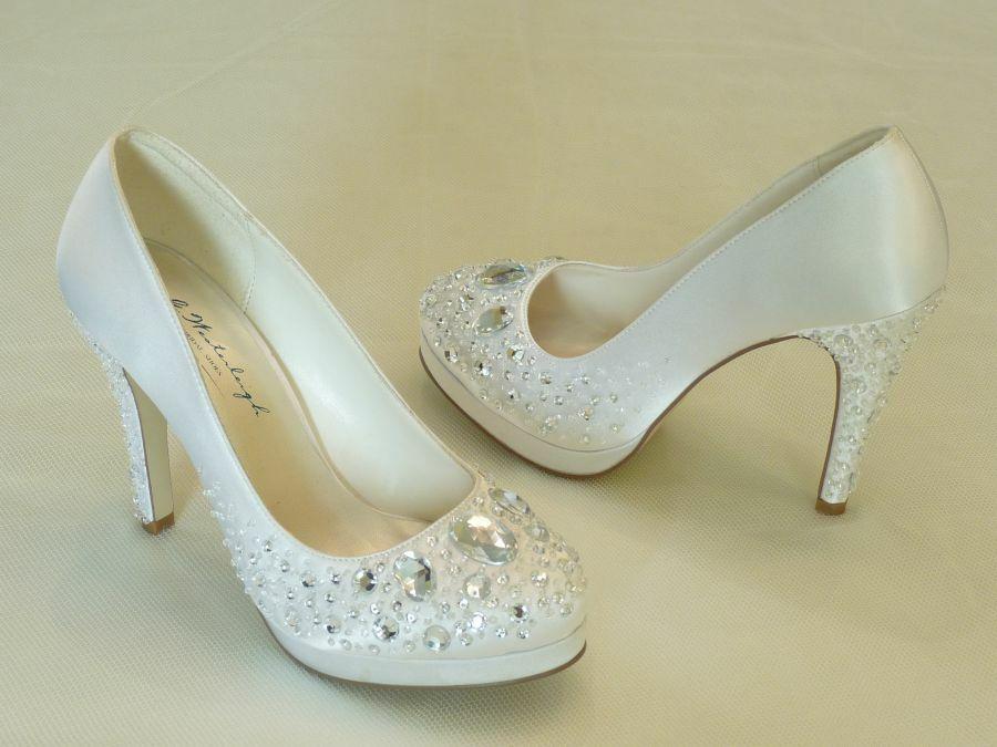 Vivienne – körömcipő fazonú női esküvői cipő