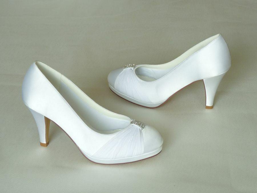 Hannah- körömcipő fazonú női esküvői cipő